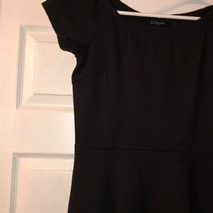 eclipse Dresses - Simple black dress, peplum style